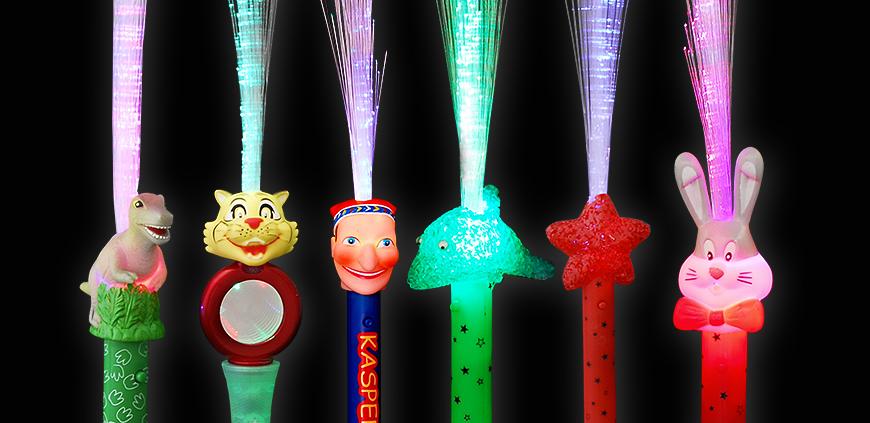 LED Glasfaserlampen mit Motiv