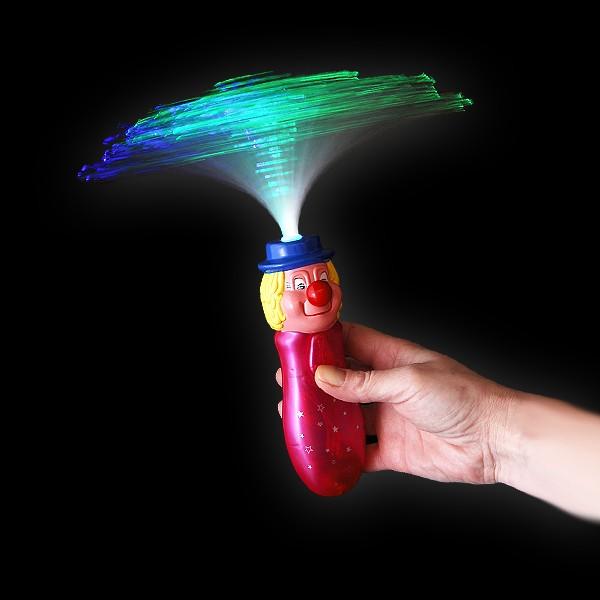 "LED Bonbon Glasfaser Wirbler Regenbogen  ""Clown"""