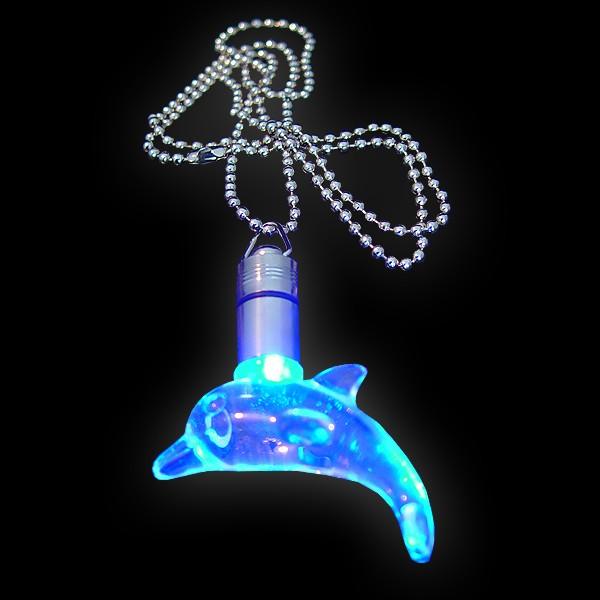 "LED Power Light Halskette ""Delfin Blau"""