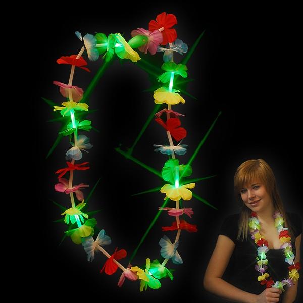 """LED Hawaiikette """"Jade Mit 5 Jade LEDs"""""""