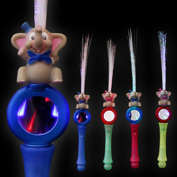 """LED Glasfaserlampe Regenbogen """"Tunnel Elefant"""""""