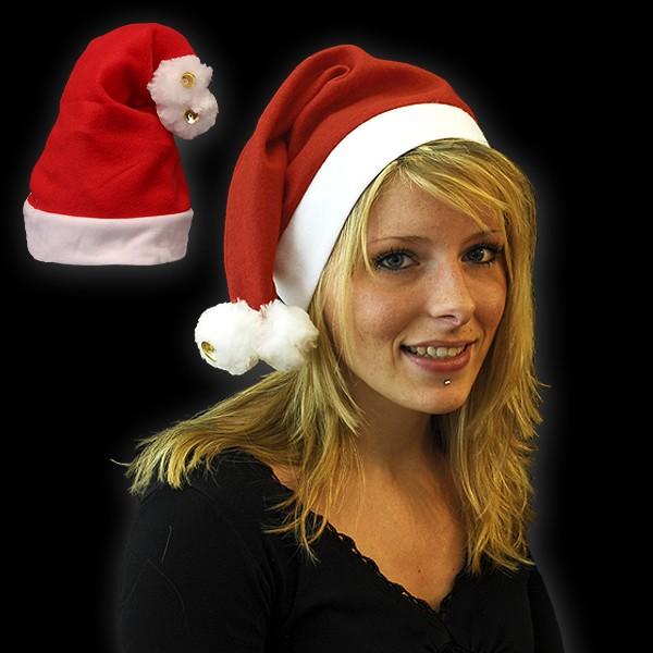"""Weihnachtsmütze """"2 Bommel & 2 Glocken"""""""