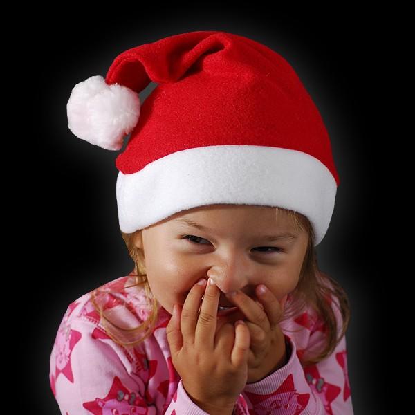 """Kinder Weihnachtsmütze """"2 Bommel/ 2 Glocken"""""""