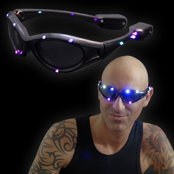 "LED Supernova Brille ""Blackline"""