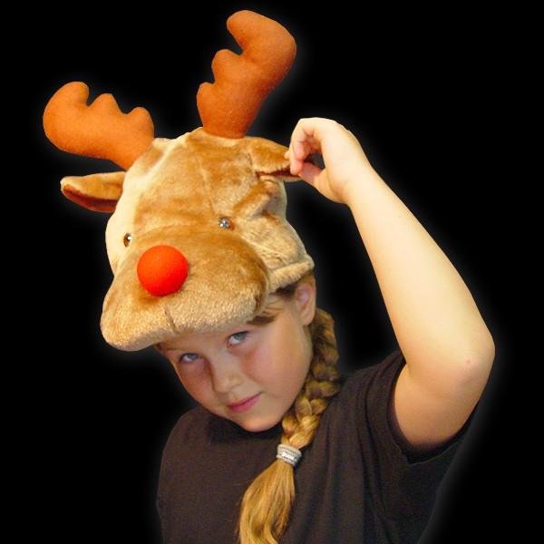"""Kinder Weihnachtshut """"Elchkopf"""""""