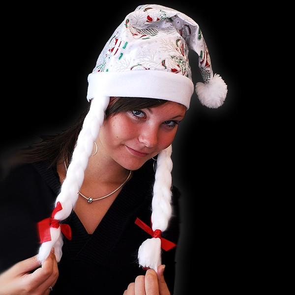 """Weihnachtsmütze """"Silberzauberzopf Santa"""""""
