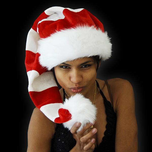"""Weihnachts Ringel Mütze """"Rot/Weiß"""""""