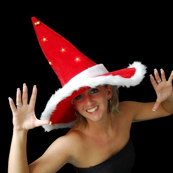 """Weihnachts Zauber Hut """"Mit 5 Blinksternen"""""""