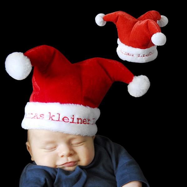 """Kinder Weihnachtsmütze Baby """"Santas Kleiner Liebling"""""""