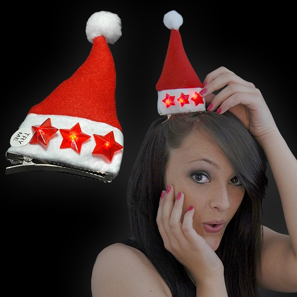 """Weihnachts Mini Mütze """"3 Sterne Rot"""""""