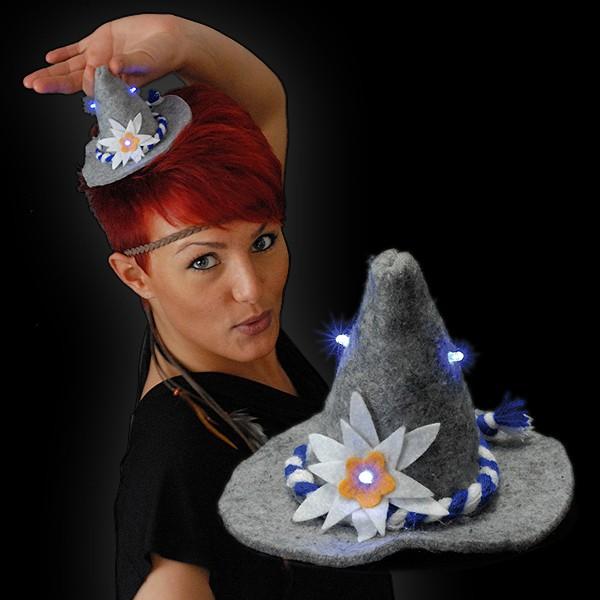 """LED Mini Hut """"Seppl Grau"""""""