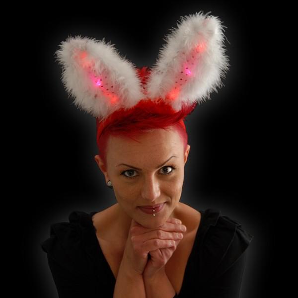 """LED Bunnyohren """"Pink & Weiß"""""""