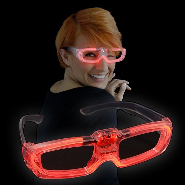 """LED Laser Brille """"Rot"""""""