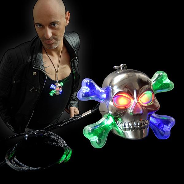 "LED Halloween Halskette ""Totenkopf"""
