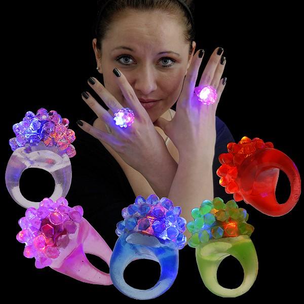 LED Kristall Ring Regenbogen