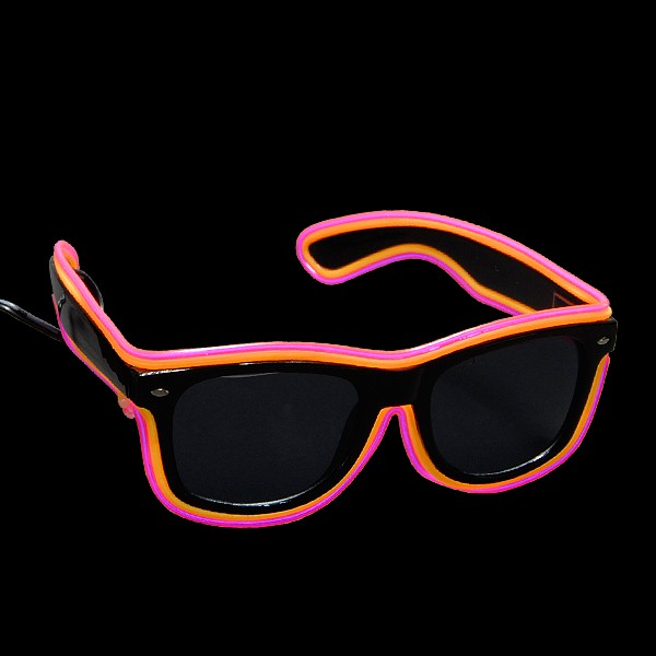 """EL Neon Brille """"Double Trouble Gelb/Pink"""""""