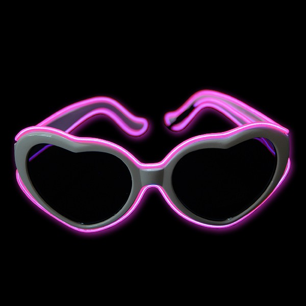 "EL Neon Brille Herz ""Pink"""