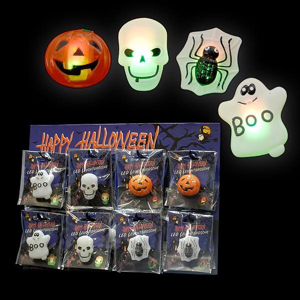 "Display ""LED Halloween Broschen"""