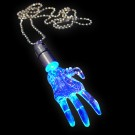 "LED Power Light Halskette ""Hand Blau"""