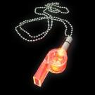 """LED Power Light Halskette """"Trillerpfeife Rot"""""""