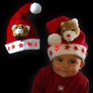 """Kinder Weihnachtsmütze """"Plüsch Bär 5 Sterne"""""""