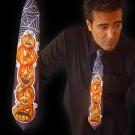 """LED Krawatte """"Guter Kürbis, Böser Kürbis"""""""
