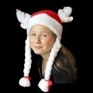 """Weihnachtselch """"Weiß"""" Mit Weißen Zöpfen"""