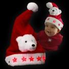 """Kinder Weihnachtsmütze """"Plüsch Eisbär 5 Sterne"""""""