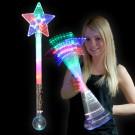 LED Prisma Kugel Stern Stab