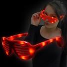 """LED Leuchtbrille """"Neon Pogo Rot"""""""