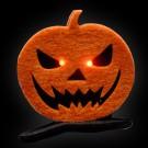 "LED Halloween Haarklammer ""Kürbis"""