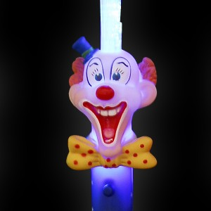 "LED Glasfaserlampe Regenbogen ""Clown"""