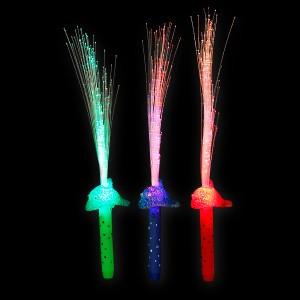 """LED Glasfaserlampe Regenbogen ''Delfin"""""""