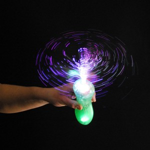 """LED Bonbon Glasfaser Wirbler Regenbogen """"Standard"""""""
