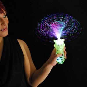 """LED Bonbon Glasfaser Wirbler Regenbogen """"Tiger"""""""