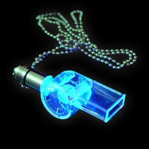 "LED Power Light Halskette ""Trillerpfeife Blau"""