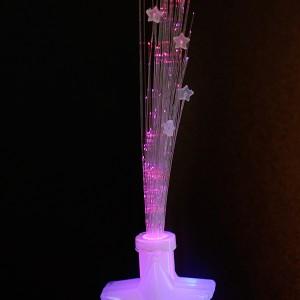 """LED Glasfaserlampe Regenbogen """"Bonbon Stern"""""""