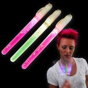 LED Glitterstick Regenbogen