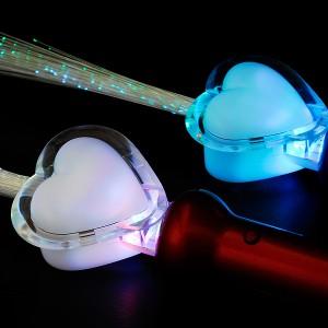 """LED Glasfaserlampe Regenbogen """"Glitter-Wasser Herz"""""""