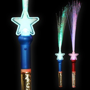 "LED Glasfaserlampe Regenbogen ""Glitter-Wasser Stern"""