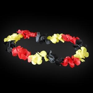 "LED Hawaiikette ""Schwarz/Rot/Gelb / Mit 5 Roten LEDs"""
