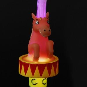 """LED Glasfaserlampe Regenbogen """"Pferd"""""""
