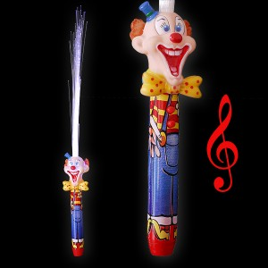 "LED Glasfaserlampe Regenbogen ""Clown Mit Sound"""
