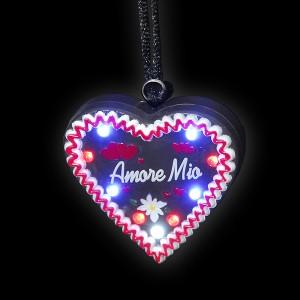"""LED Lebkuchenherz """"Amore Mio"""""""