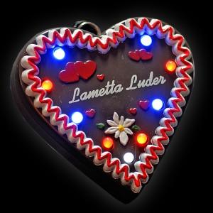 """LED Lebkuchenherz """"Lametta-Luder"""""""