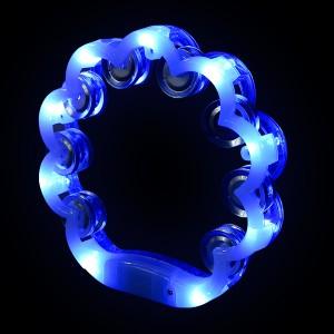 """LED Schellenkranz 360° """"Milky Weiß/Blau"""""""