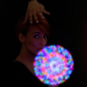 """LED Duplex Sonnenstrahl Wirbler """"Clown"""""""