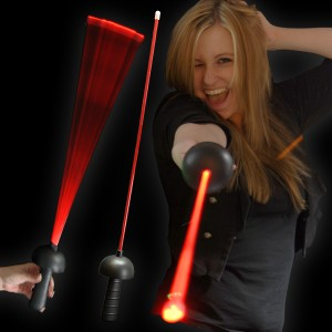 "LED Laser Degen ""Black Edition Rot"""