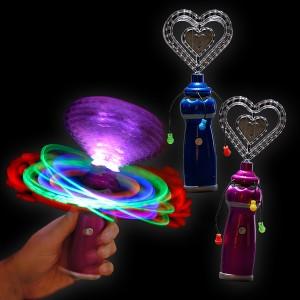 """LED Mega Wirbler """"Kristall Herz"""""""