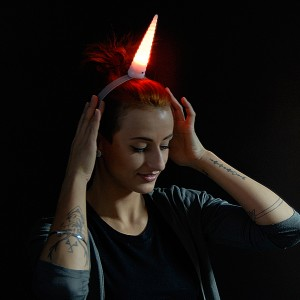 """LED Haarreif """"Einhorn"""""""